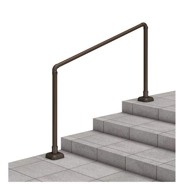 三協アルミ クリエフリー2S 歩行者用補助手すり 1スパンセット ベースプレート支柱タイプ エラストマータイプ(木調)