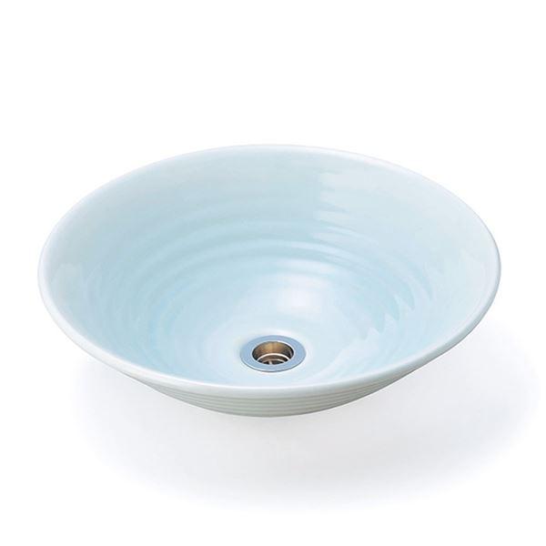 ニッコー 美濃焼手洗鉢 せいはくじ  排水金具付き GFM-31 『水栓柱・立水栓 水受け(パン) ニッコーエクステリア』 せいはくじ