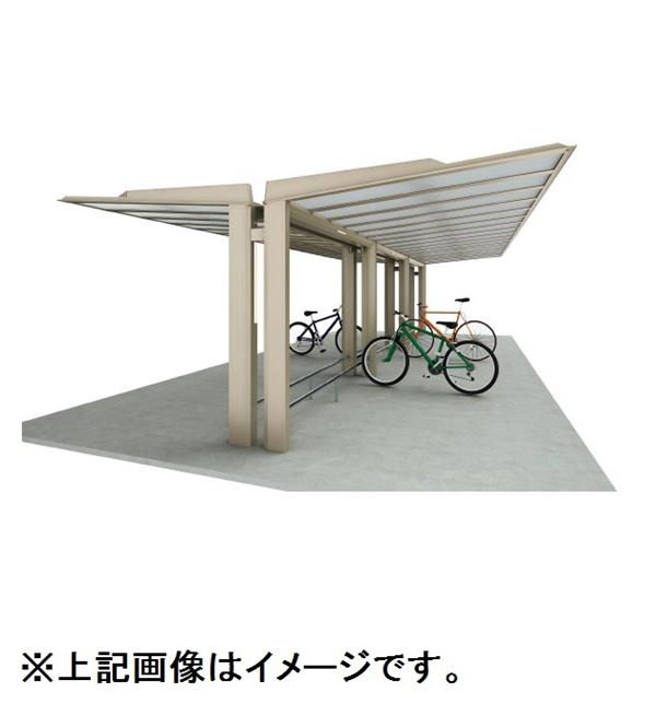 四国化成 サイクルポート ルナ 標準支柱 Y合掌タイプ 基本セット 積雪20cm 標準高 埋込式 屋根材:ポリカ板(片面クリアマット) LNA-U4131