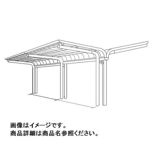 Y合掌タイプ 積雪20cm 標準高 屋根材:ポリカ板 V-R オープンタイプ 四国化成 連棟用基本セット(2連棟セット) サイクルポート VC-4461