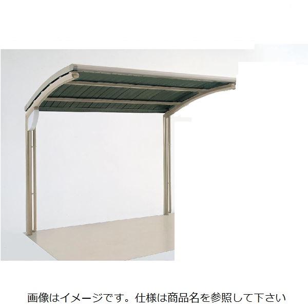 四国化成 サイクルポート SSR-R 積雪20cm オープンタイプ 標準タイプ 基本セット 屋根材:アルミロールホーミング材 本体:ブラックつや消し/屋根材ステンカラー 本体:ブラックつや消し/屋根材ステンカラー