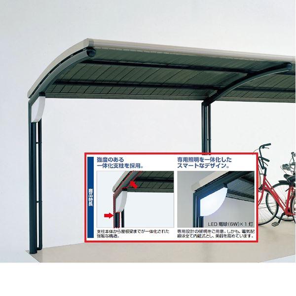 四国化成 サイクルポート SSR オープンタイプ 照明付支柱1本当り