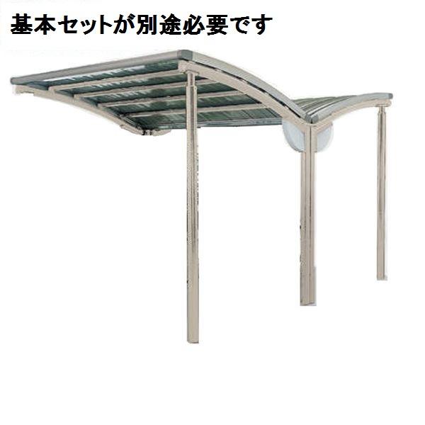 四国化成 サイクルポート SSR オープンタイプ 積雪100cm Y合掌タイプ 連棟ユニット アルミロールホーミング屋根材  本体:ブラックつや消し/屋根材ステンカラー *連棟ユニット施工には基本セットの別途購入が必要です。 本体:ブラックつや消し/屋根