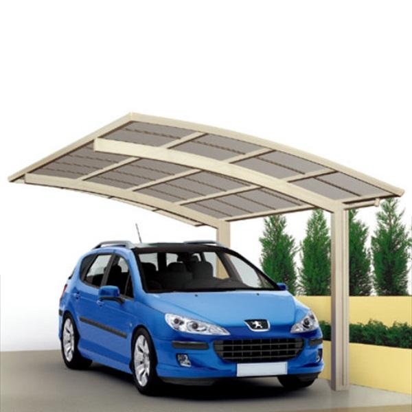 キロスタイル-IS モダンポート76 1台用 2750 標準高 基本セット 熱線遮断・吸収ポリカーボネート板『アルミカーポート 自動車屋根』