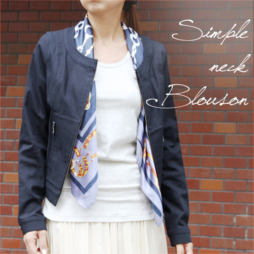 【SALE☆】【日本製】【ジャケット】ノーカラーブルゾン カジュアルにもきちんとも対応する綿麻素材レディース ファッション ショート ブルゾン 30代40代50代 プレゼント