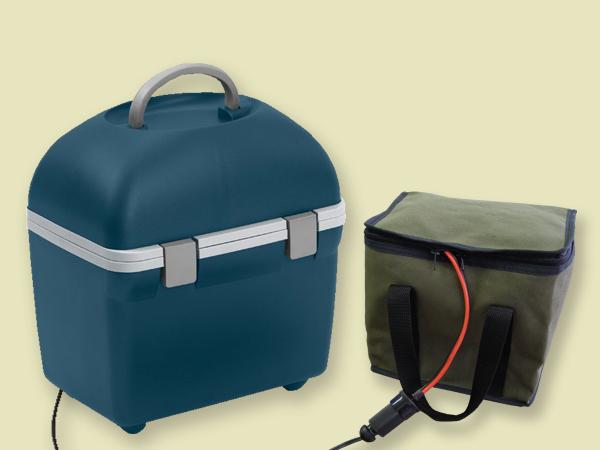 レジャーのお供に! バッテリー付きポータブル冷温蔵ボックスCT20DC+APB33CLセット屋外アウトドア用電源セット