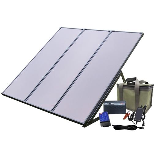 コールマン55Wソーラー発電キット & KIRYUバッテリーパック PVS-55WBN
