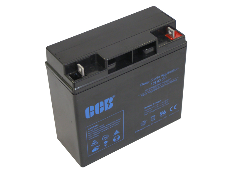 CCBバッテリー12DD-20 20AhAGM(VRLA)ディープサイクルバッテリー【防災・地震・非常・救急 SA】