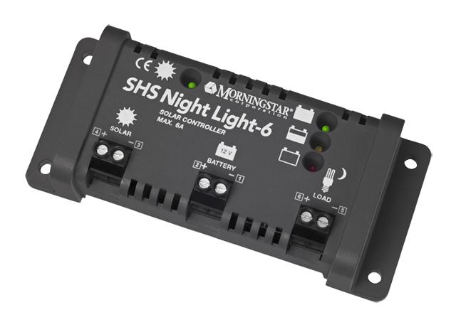 モーニングスター社ソーラーチャージ・ライティングコントローラーSHSシリーズ SHS-NL-6