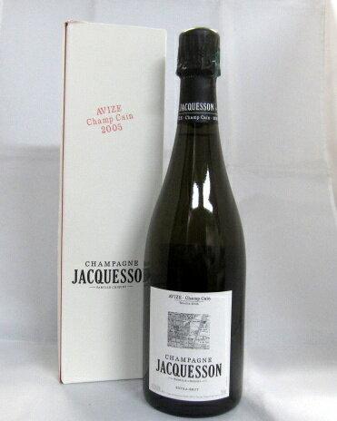 ジャクソン[2005]ブリュット・アヴィズ・シャン・カン750ml(JACQUESSON BRUT AVIZE CHAMP CAIN)【専用箱付】【パーカーポイント95+】【フランス】【シャンパーニュ】【スパークリングワイン】【白ワイン】