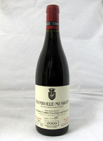 シャンボール・ミュジニー [2009] ドメーヌ・コント・ジョルジュ・ド・ヴォギュエ 750ml(Comte de Vogue)【最安値】【1級畑ボードとフュエのブドウを含む】【フランス】【ブルゴーニュ】【赤ワイン】