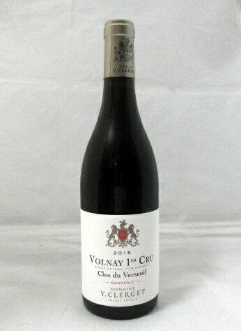 ドメーヌ・イヴォン・クレルジェ[2016] ヴォルネィ プルミエ・クリュ クロ・デュ・ヴェルスイユ 750ml 【AM 91-93 Sweet Spot】【大変素晴らしいワインで、一飲の価値がある。AM】【ブルゴーニュ】【赤ワイン】