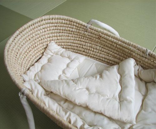 【コンフォロフト】ゆりかご用ベビー布団(掛け・敷き・枕セット) お手持ちのゆりかごやクーハンに合わせたベビー布団をお作りします。オーダーベビー布団【日本製】 ★送料無料