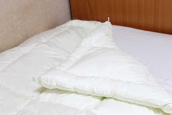 洗えるキャメル合い掛け布団(キング230×210cm)【日本製】/キャメルふとん