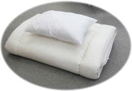 長身用スーパーロング敷布団と枕のセット(敷サイズ:100×220cm)