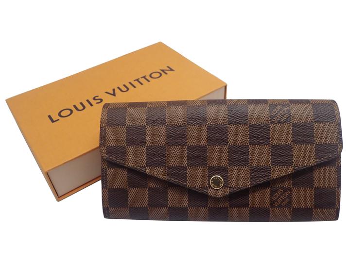 LOUIS VUITTON ルイ・ヴィトン LV ヴィトン ポルトフォイユ・サラ N60114 ダミエ エヴェヌ 長財布 財布 ローズバレリーヌ ピンク '18年製造