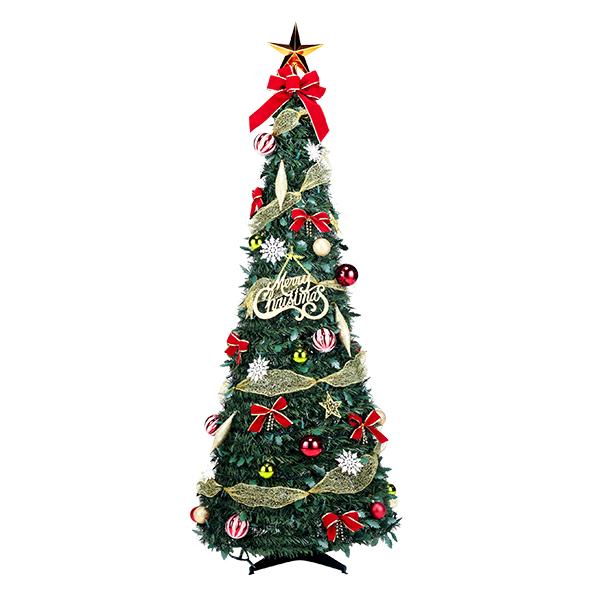 フォールディングレッドツリー120cm ( 税別\9750×1台 ) 《 クリスマス ツリー xmas イベント 子ども会 子供会 クリスマス 景品 ノベルティ お祭り 問屋 》