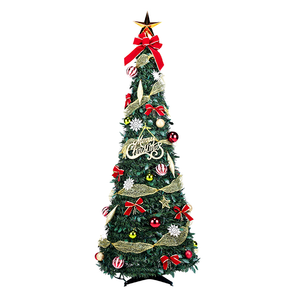フォールディングレッドツリー150cm ( 税別\11700×1台 ) 《 クリスマス xmas イベント 子ども会 子供会 クリスマス 景品 ノベルティ お祭り 問屋 スーパーボール 》