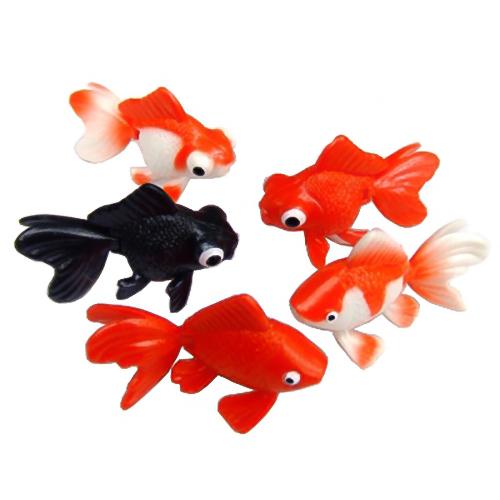 【 人形すくい 】 すくって!リアル金魚コレクション ( 税別\36×1000個 )《 縁日すくい すくい人形 魚 指人形サイズ フィギュア型 イベント 景品 お祭り 問屋 》