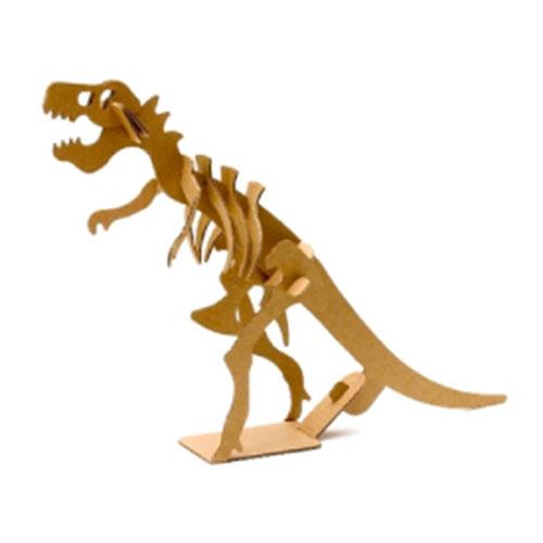 KYSDK11505おもちゃ 高い素材 恐竜 ペーパークラフト 期間限定今なら送料無料 段ボール工作 幼稚園祭り景品子供会縁日 ペーパークラフトダンボール工作恐竜ティラノサウルス 10個入