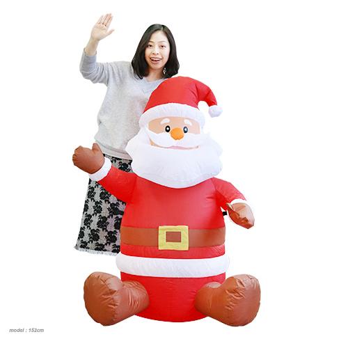 クリスマス 装飾 エアブロウ ミニサンタ2018(税別\6880×1台) クリスマス 飾り デコレーション 子供会