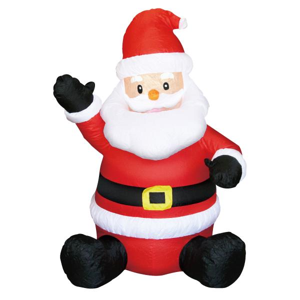 【 クリスマスエアブロウ 】 ミニサンタ 《 クリスマス xmas イベント 子ども会 子供会 景品 ノベルティ お祭り 問屋 》