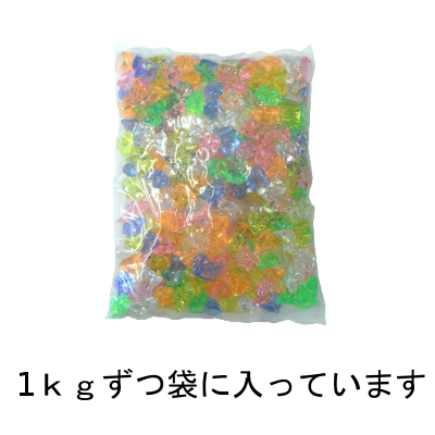 Acrylic ice diamond fluorescence clear colorless (1 kg)