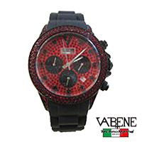 VABENE(ヴァベーネ)クロノグラフスワロフスキー腕時計レッド ブラック STARDUST FANTASY セール SALE アウトレット OUTLET 半額 50%