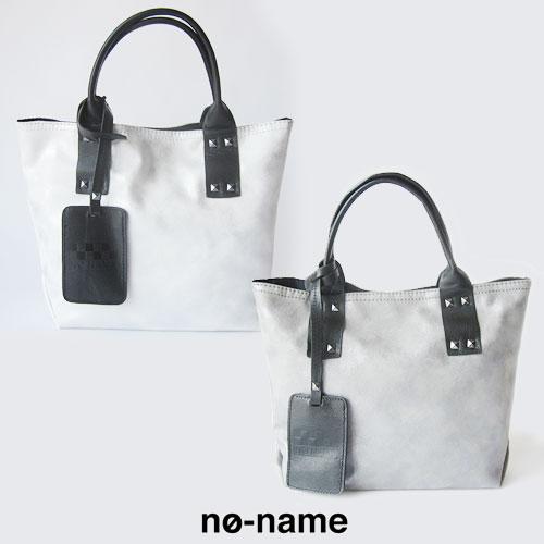 NO-NAME(ノーネーム)HAND BAG SMALLGLOWハンドバッグ ファスナー スタッズ シルバー AICER トートバッグ