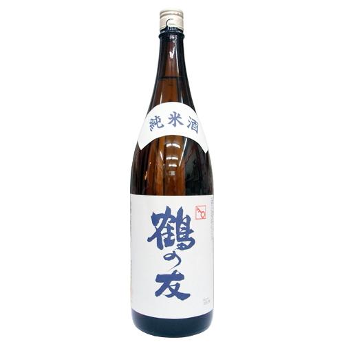 地酒にこだわり続ける樋木酒造が醸す 鶴の友 の純米酒です 純米 1 800ml 無料 スピード対応 全国送料無料 清酒 新潟地酒 日本酒 樋木酒造 純米酒
