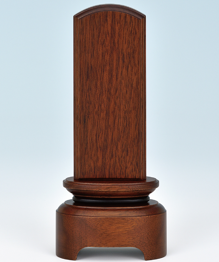 ウォールナットの国産位牌 国内正規品 安心の実績 高価 買取 強化中 シンプルな意匠は様々なタイプのお仏壇に良く似合います 明-あかり-5.5寸 文字入れ1名様分無料