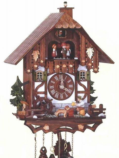 アントン・シュナイダー製カッコー時計はと時計MT6564/9W 1日巻モデル