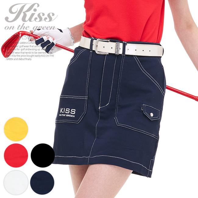 定番 ゴルフスカート スカート 丈長め スカート丈はひざ上5センチ 超定番 インナーパンツ一体型 裏地付き レディース インナーパンツ付き ポケットも多く多機能な1枚 ゴルフウェア ゴルフ 購入 ステッチ入りスーパーストレッチスカート