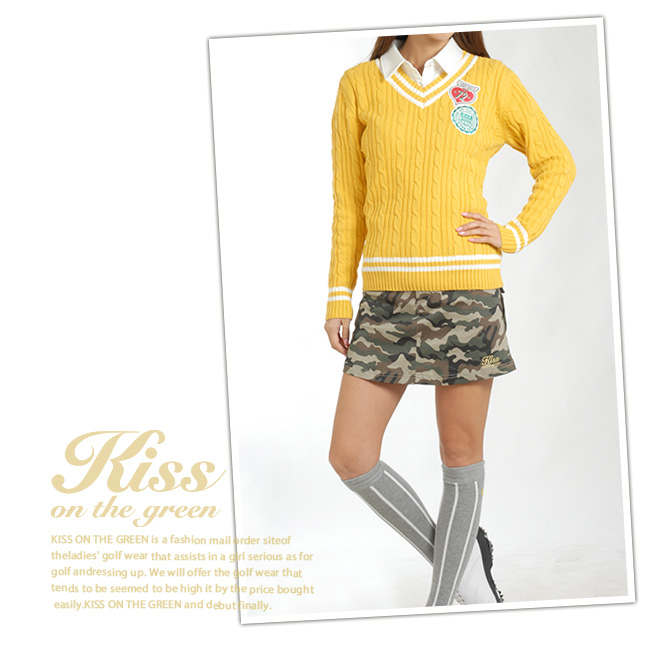 1具内部裤子型、伪装色花纹军事裙子(高尔夫球服装女士高尔夫球服装)