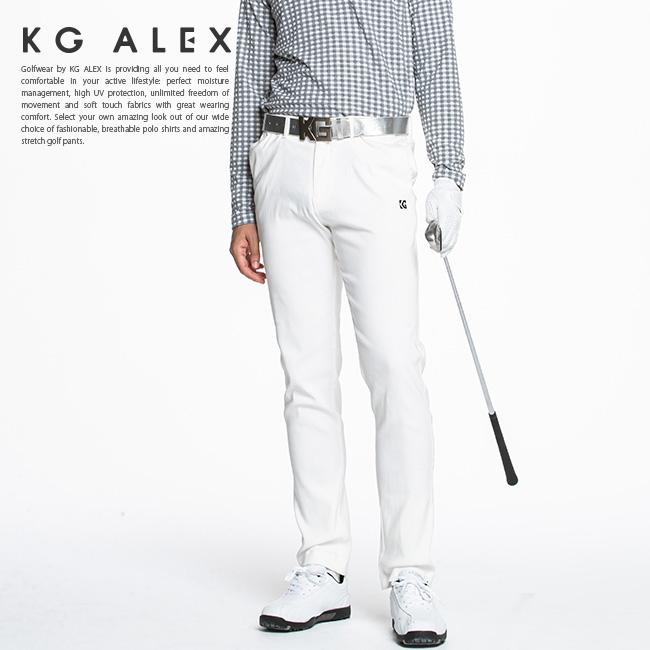 ゴルフウェア メンズ 代引手数料送料無料 KG-ALEX ウエストアジャスター付きスーパーストレッチスキニーパンツ 全4色 M-L 無地 スリム ロング 当店は最高な サービスを提供します メンズパンツ アジャスター付 パンツ 宅送