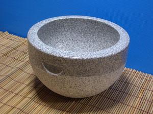 花岗岩碗式麻糬磨木和杵 L 设置