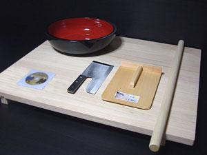 足付き!高級桐麺板、蕎麦打ちセット【送料無料】