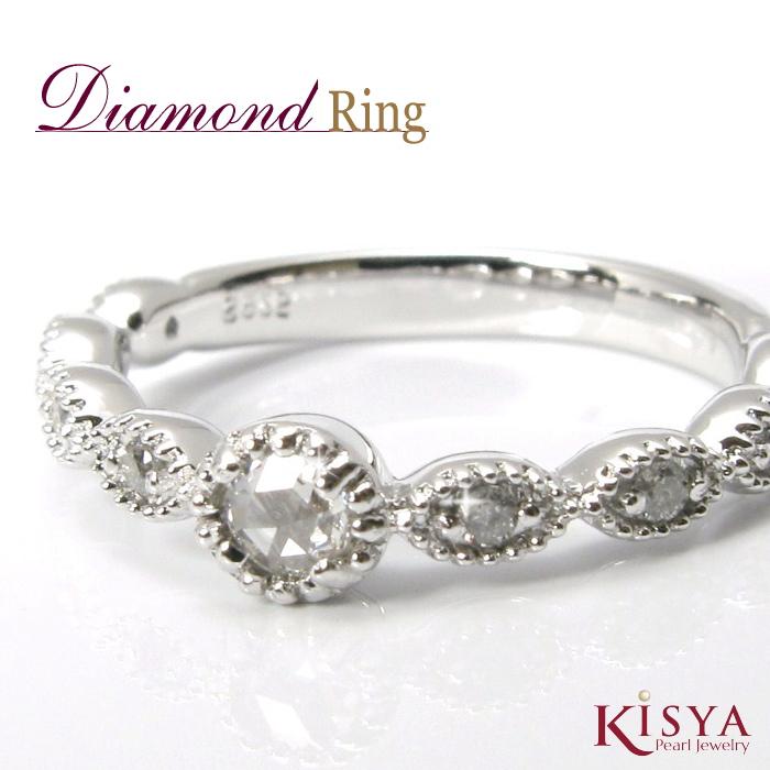 ダイヤモンド リング ローズカット Diamond 送料無料 指輪 レディース 日本製