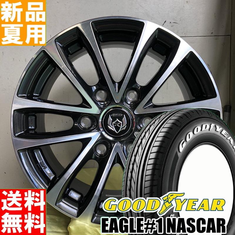 EAGLE#1 NASCAR 215/65R16 109/107 GOODYEAR 夏用 新品 16インチ ラジアル タイヤ ホイール 4本 セット RIZLEY JP-H 16×6.5J+38 6/139.7
