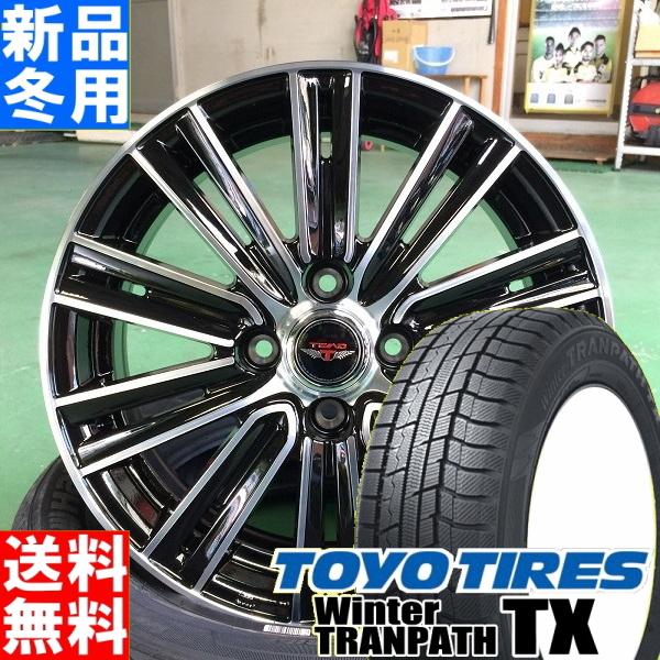 トーヨータイヤ TOYOTIRES ウィンタートランパス TX winterTRANPATH TX 155/65R14 冬用 新品 14インチ スタッドレス タイヤ ホイール 4本 セット TEAD SNAP 14×4.5J+45 4/100