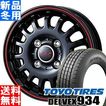 トーヨータイヤ TOYOTIRES デルベックス 934 DELVEX 934 145/80R12 80/78 冬用 新品 12インチ スタッドレス タイヤ ホイール 4本 セット VICENTE-04 CA 12×3.5J+45 4/100