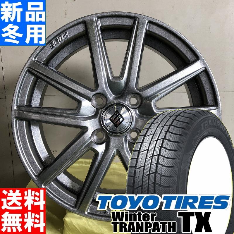 トーヨータイヤ TOYOTIRES ウィンタートランパス TX winterTRANPATH TX 155/65R14 冬用 新品 14インチ スタッドレス タイヤ ホイール 4本 セット SEIN SS 14×4.5J+45 4/100