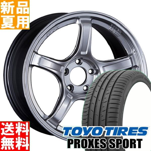 トーヨータイヤ TOYOTIRES プロクセス スポーツ PROXES SPORT 225/45R18 18インチ スポーツ系 サマー タイヤ ホイール 4本 セット 夏用 SSR GTX03 18×7.5J+48 5/114.3