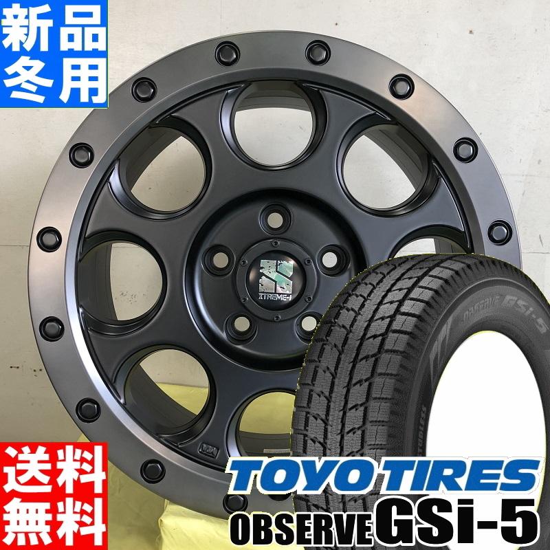 トーヨータイヤ TOYOTIRES オブザーブ GSi-5 OBSERVE 235/70R16 冬用 新品 16インチ スタッドレス タイヤ ホイール 4本 セット MLJ XTREME-J XJ03 16×7.0J+35 5/114.3