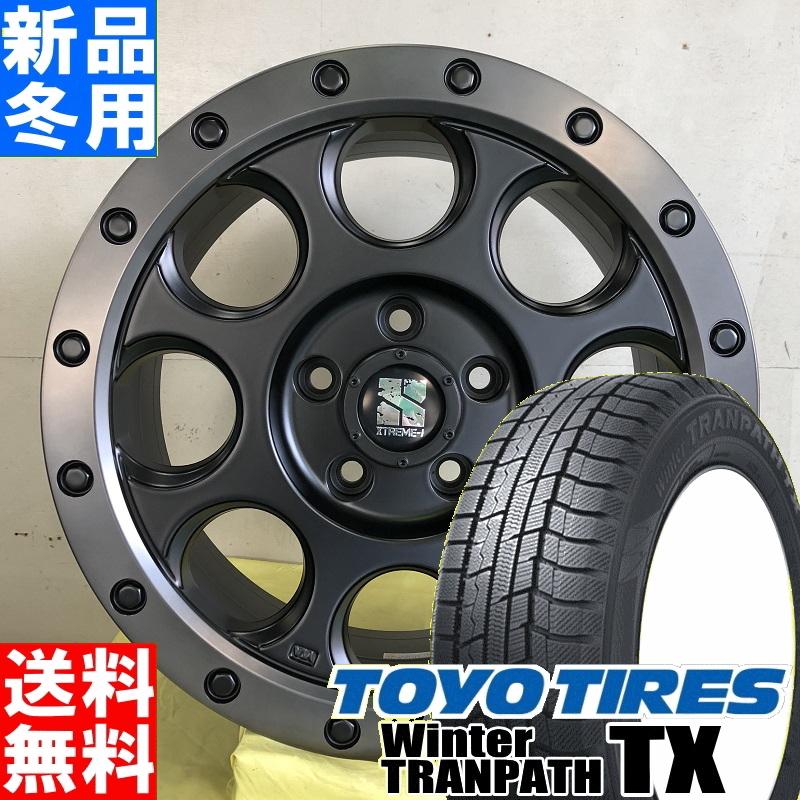 トーヨータイヤ TOYOTIRES ウィンター トランパス TX winter TRANPATH 215/70R16 冬用 新品 16インチ スタッドレス タイヤ ホイール 4本 セット MLJ XTREME-J XJ03 16×7.0J+35 5/114.3