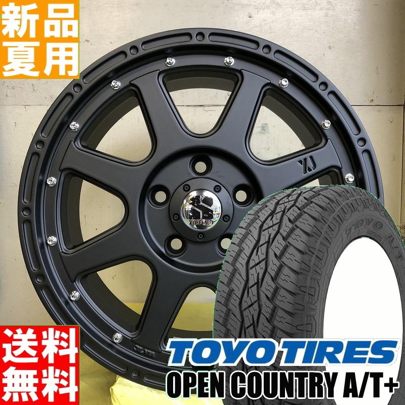 トーヨータイヤ TOYOTIRES オープンカントリー OPEN COUNTRY A/Tplus 215/70R16 16インチ オフロード仕様 サマー タイヤ ホイール 4本 セット 夏 MLJ XTREME-J 16×7.0J+35 5/114.3