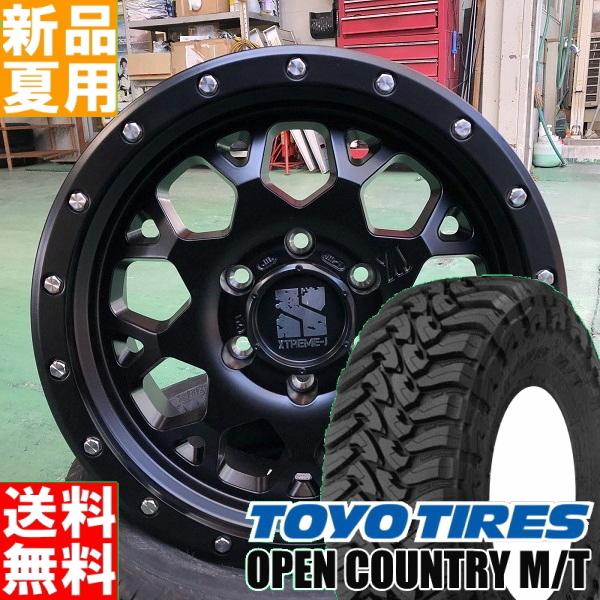 トーヨータイヤ TOYOTIRES オープンカントリー OPEN COUNTRY M/T 265/70R17 17インチ オフロード仕様 サマー タイヤ ホイール 4本 セット 夏用 MLJ XTREME-J XJ04 17×8.0J+20 6/139.7