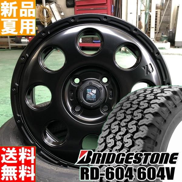 ブリヂストン BRIDGESTONE RD604V M+S 145R12 6PR サマー タイヤ ホイール 4本 セット 12インチ オフロード仕様 夏用 エクストリーム J XTREME-J KK03 12×3.5J+45 4/100