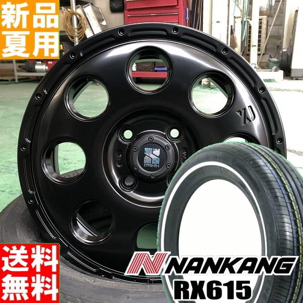 ナンカン NANKANG RX615 ホワイトリボン 155/65R14 サマー タイヤ ホイール 4本 セット 14インチ 夏用 エクストリーム J XTREME-J KK03 14×4.5J+45 4/100