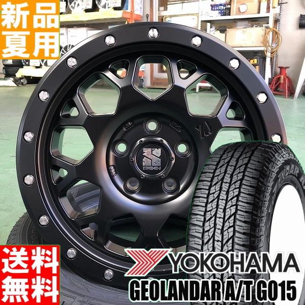 ヨコハマ YOKOHAMA ジオランダー GEOLANDAR A/T G015 235/70R16 16インチ オフロード仕様 サマー タイヤ ホイール 4本 セット 夏 MLJ XTREME-J XJ04 16×7.0J+38 5/114.3